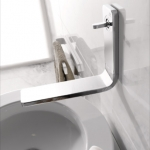 Lounge Wall Mounted Single Control Lavatory Faucet